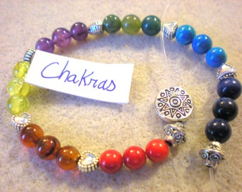 BRACELET KIT oriental chakras in the colors of the India