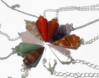 Dowsing pendulum, Metaphysical pendulum, stone pendulum, custom pendulums, Crystals and stones, Crystal Energy Canada, your choice of stone