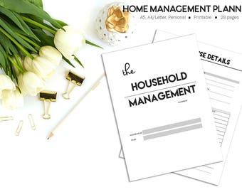 Household Binder |  Family Planner | Home Planner PRINTABLE | Household Planner | Printable Planner | Cleaning Planner | Home Management