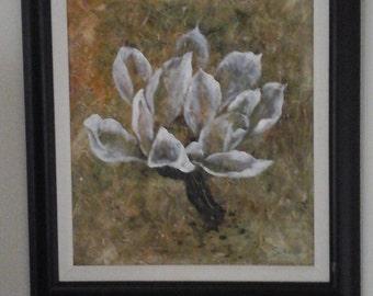 Magnolia signed original  Oil Painting