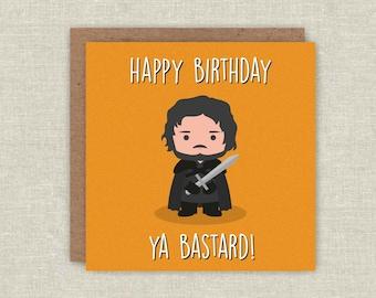 Birthday Card Jon Snow Game of Thrones Birthday Card GOT Funny Birthday Game of Thrones Card Game of Thrones Gift for Birthday