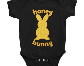 Honey Bunny Infant Bodysuit  | Cute Rabbit Onesie | Bunny Lovers | Hunny Bunny |  Easter Onesies | Honey Bunny Onesies | Mommy's Honey