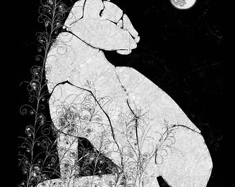 Cats: Night Garden Cat Magnet