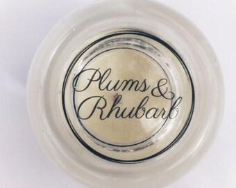 Plums & Rhubarb