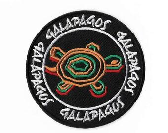Galapagos Islands Turtles Patch Embroidered Iron or Sew on Badge Applique Trek Trekking Souvenir Lizard Iguana Turtle Tortoise