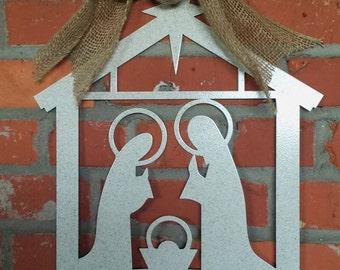 Nativity Scene Christmas Baby Jesus Star Stable Outdoor