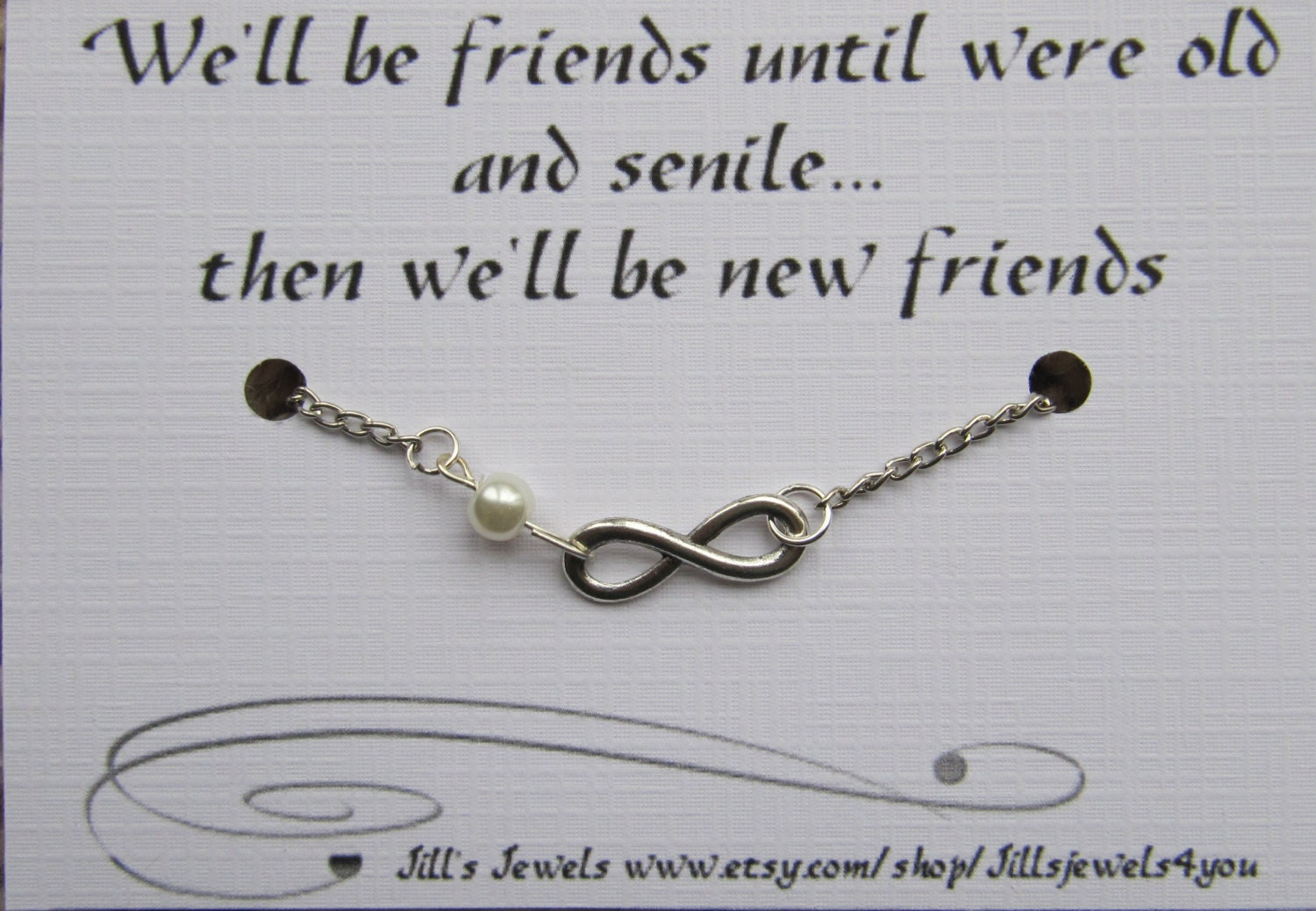 Funny Friendship Quotes Best Friend Bracelet Funny Best Friend Infinity Charm