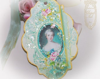 Madame de Pompadour Letters of PassionnanteTags, Favors, Enclosures Set of 6
