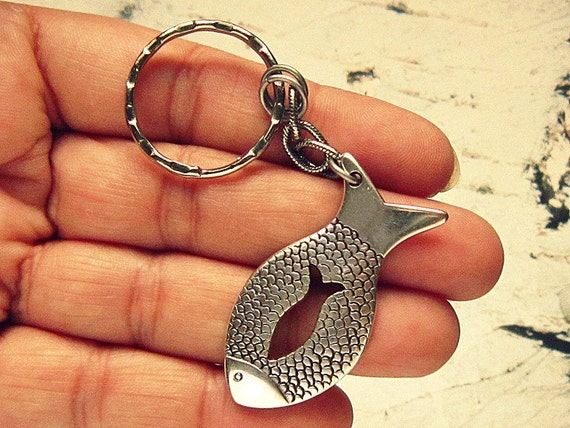 Fish Keychain Fishing Keychain Fisherman Gift Fishing
