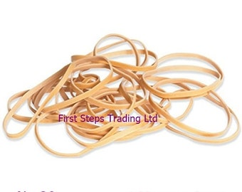 """30 x Long 6.29"""" Rubber Elastic Bands 160mm x 3mm Long and Thin No.38"""