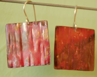 Flaming Copper Squares