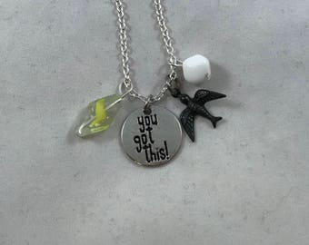 You Got This Necklace, You Got This Charm Necklace, Charm Necklace