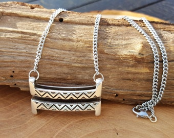 Necklace with pendant square XL