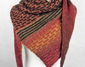 Triangular scarf SCHALTUCH Alpaca wool stole wool handmade