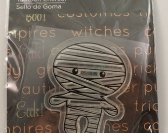 Imaginisce Halloween Mummy Cling Clear Rubber Stamp