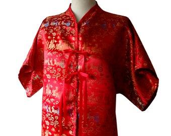 Red Brocade kimono tunic Pasha