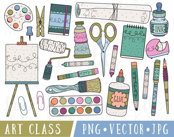 Art supplies clipart art class clip art clipart for art supplies clipart art class clip art clipart for teachers commercial use clipart classroom clipart school supplies clipart png voltagebd Image collections
