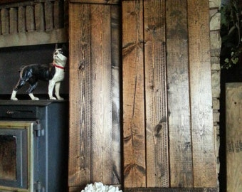 "RUSTIC wood shutters - 60"" Primitive shutters - Handmade Farmhouse Shutters - Wooden Shutters - Interior - Exterior - Wall Decor"