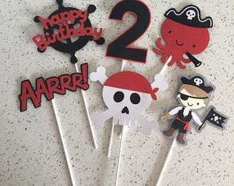 Pirate Centerpiece, Pirate Party Decoration, Pirate Party Centerpiece, Red And Black Party, Pirate Boy Party, Pirate Girl Party