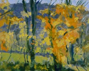 Original Oil Painting, Autumn Trees, Fall Landscape, Berkshire Landscape, by Robert Lafond