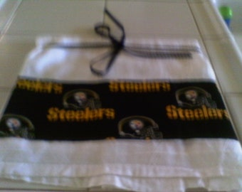 Flour Sack Towel with Pittsburg Steelers Football