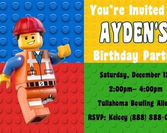 Lego Birthday Invitation- Printable