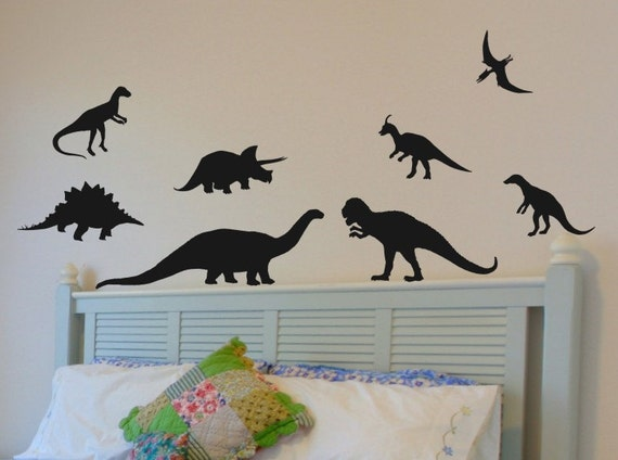 Dinosaur Wall Stickers Kids Bedroom Decal Bed Room Decor Baby