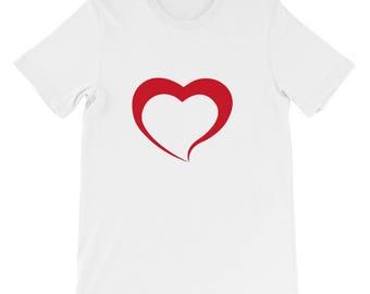 Cute Heart Tshirt - Heart T Shirt - Womens T Shirt - Heart T Shirt - Heart Printed T shirt - Graphic Tee - Ladies Tee