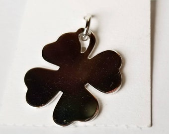 Vintage A&E Sterling Silver Lucky Four Leaf Clover Charm - New on the Original Card