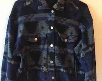 Vintage SouthWest Print Cropped Jacket