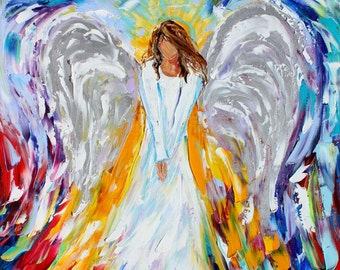 Fine Art Print made from oil painting image by Karen Tarlton - Angel of Goodwill Print