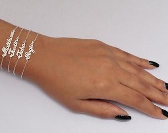 Mini Name Plate Bracelets