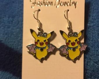 Pikachu inspired earrings