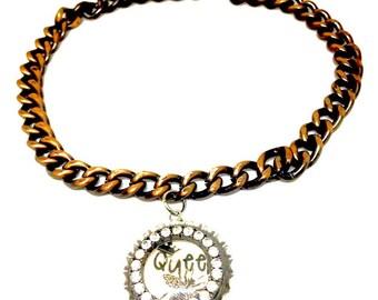 Bronze Queen Bee Necklace