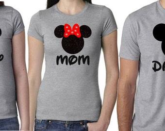 Disney Family Shirts, Family Disney Shirts, Matching Shirts Disney, Mickey and Minnie Head Shirts, Mommy and Me Disney Shirts, Disney Trip