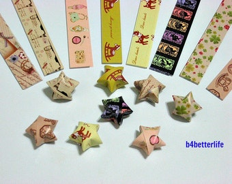 250 strips of DIY Origami Lucky Stars Paper Folding Kit. 26cm x 1.2cm. #C126. (XT Paper Series).