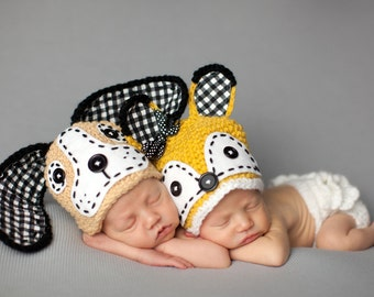 Happy Hound Hat for Newborns