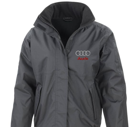 Black Audi Embroided Core Jacket StormDri Fleece Lined S Line A3 A6 Q7 T5wue