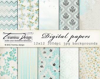 Scrapbook Papers and Digital Paper Pack 15 -Vintage