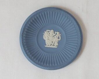 Vintage English Blue Jasperware Wedgwood Small Dish.