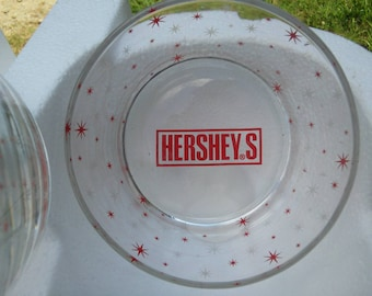 Hershey 's Holiday Snack Glass Bowls Set of 3