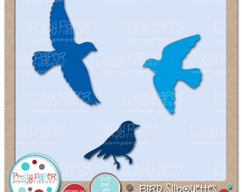 Bird Silhouettes Cutting Files & Clip Art - Instant Download