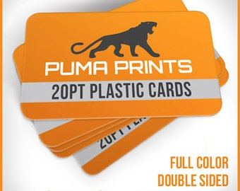 Plastic Business Cards - Full Color, Double Sided, White 20pt Plastic, w/Rounded Corners