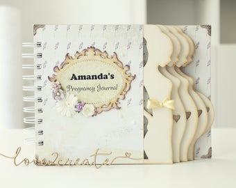 Personalized Week by week Pregnancy Journal Pregnancy album Pregnancy diary Mom to be journal Expecting mom diary keepsake gift