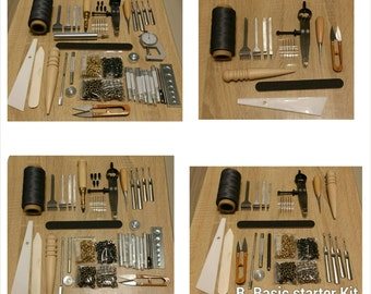 Leather Craft Kit for handmade DIY project, Tools set, Leather Craft Hoppyist or beginner's starter Kit.