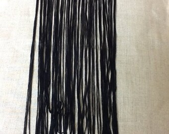 Black polyester fringe - 30 cm
