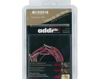 Addi-click Interchangeable Ropes 5-set 40/50/60/80/100 needle ropes 758-2/758-7