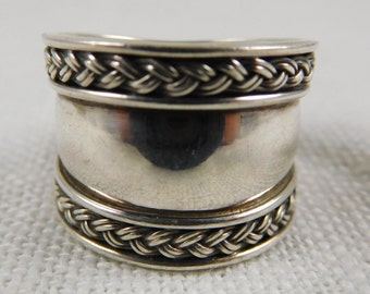 Vintage Sterling Silver Thumb Cuff