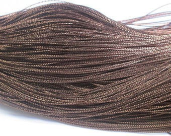 20 m braided Brown wire 0.8 mm