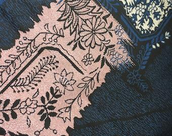 Vintage Kimono Silk Crepe Panel for Scarf-Making, Cothing Repurposing, Mending and Remaking